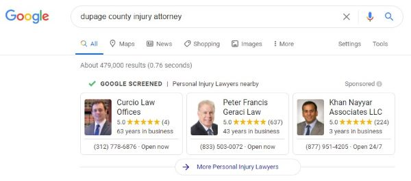 Local Services Ads for attorneys