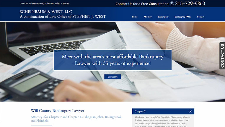 Bankruptcy Attorney Websites | Web Design for BK Lawyers