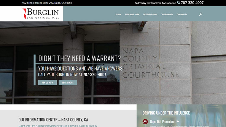 Burglin Law Offices, P.C. Napa County