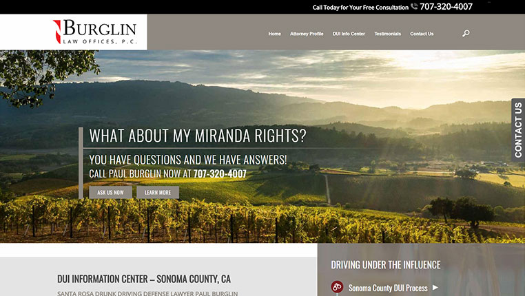 Burglin Law Offices, P.C. Sonoma