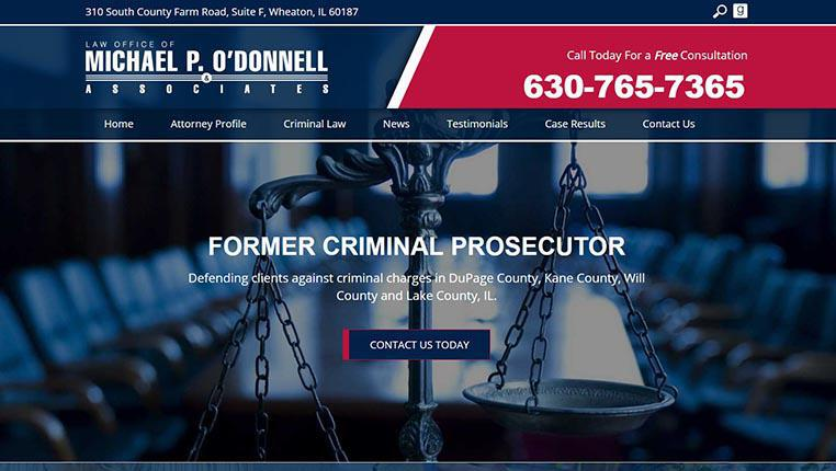Criminal attorney websites online marketing defense lawyers seo law office of michael p odonnell associates solutioingenieria Images